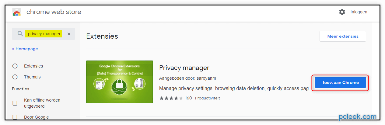 Privacy Manager Chrome1